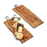 Two's Company Serving Board with Iron Handle Medium