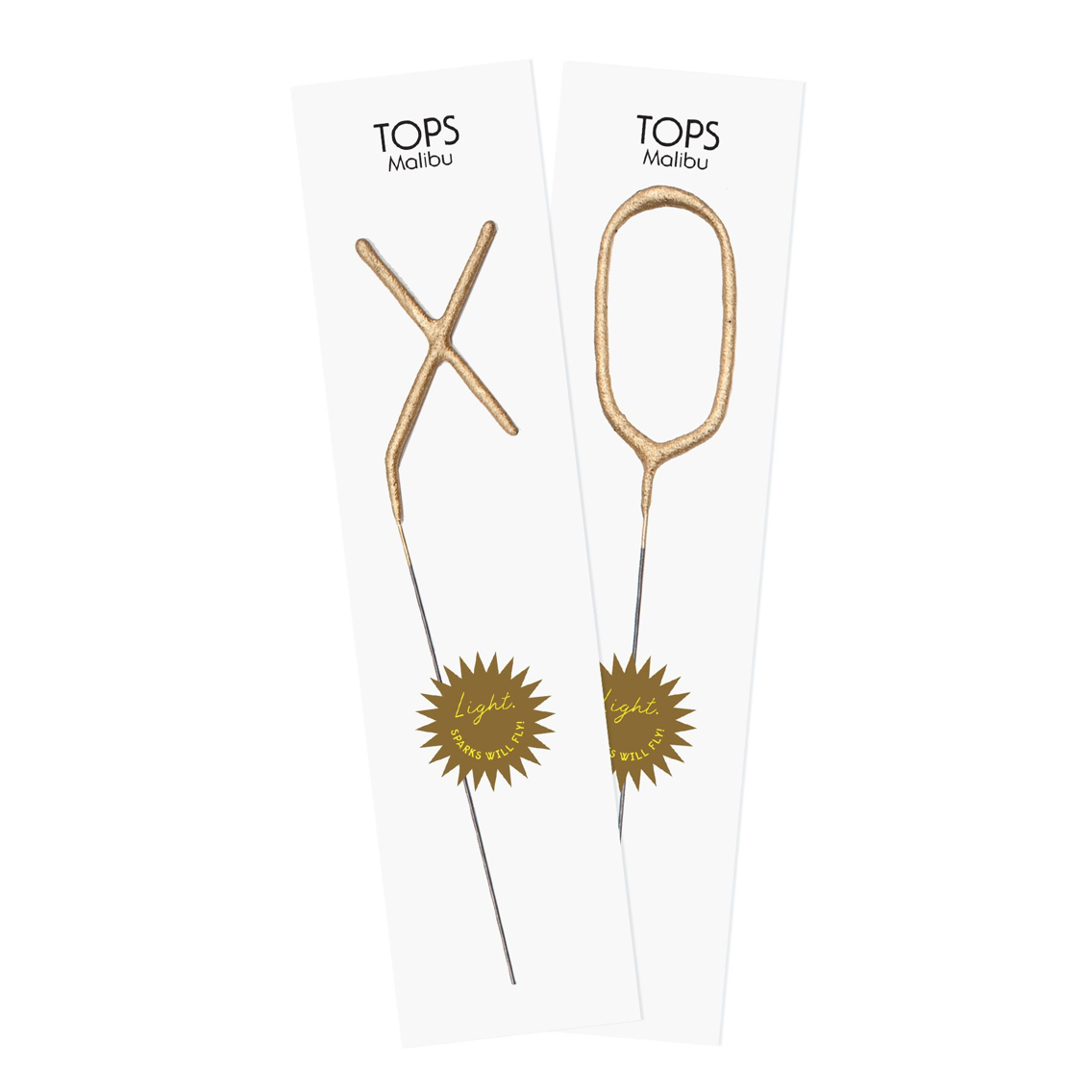 Tops Malibu Big Golden Sparkler Wands XO