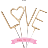 Tops Malibu Sparkler Card LOVE 4""