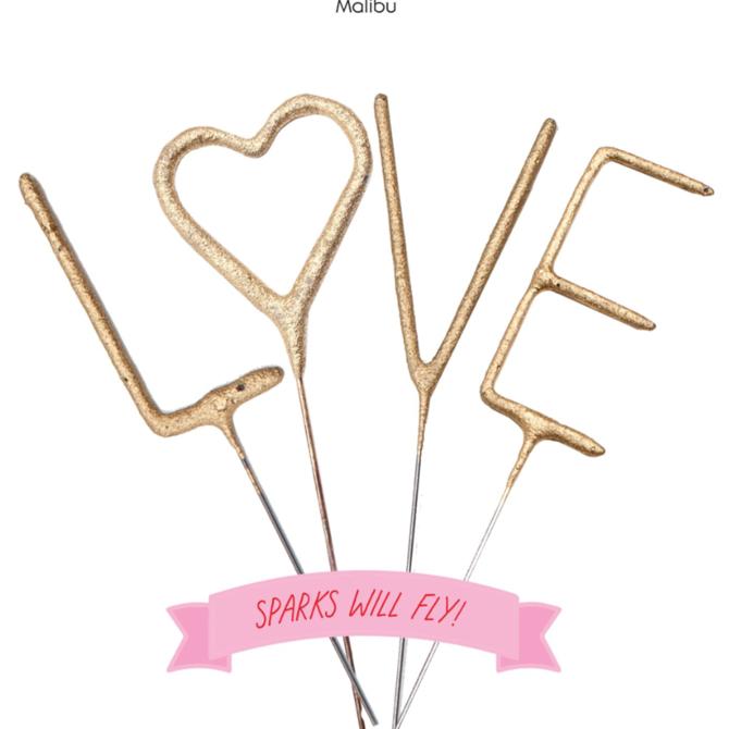 """Tops Malibu Sparkler Card LOVE 4"""""""