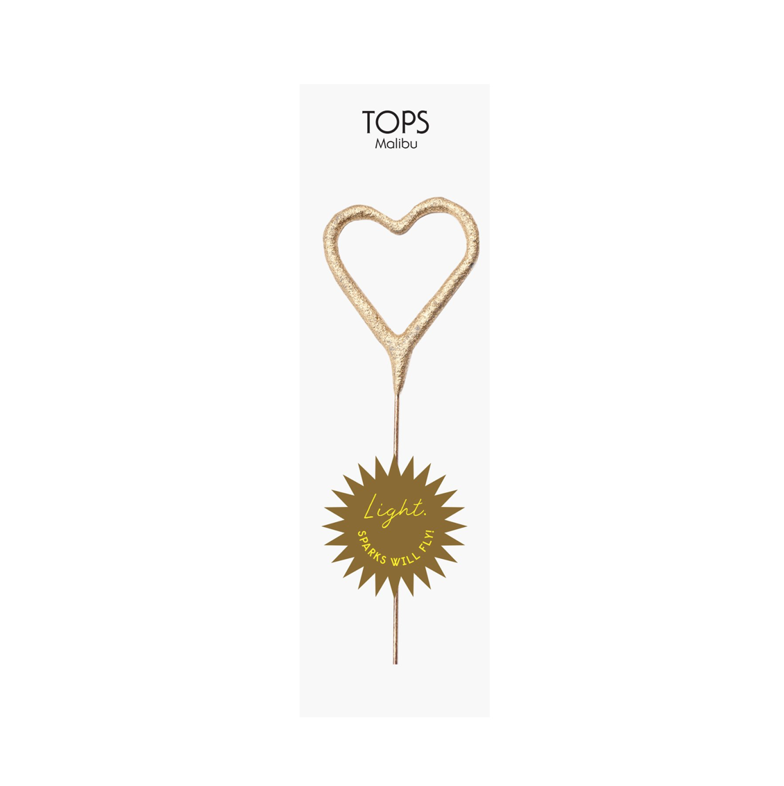 Tops Malibu Mini Gold Sparklers Heart