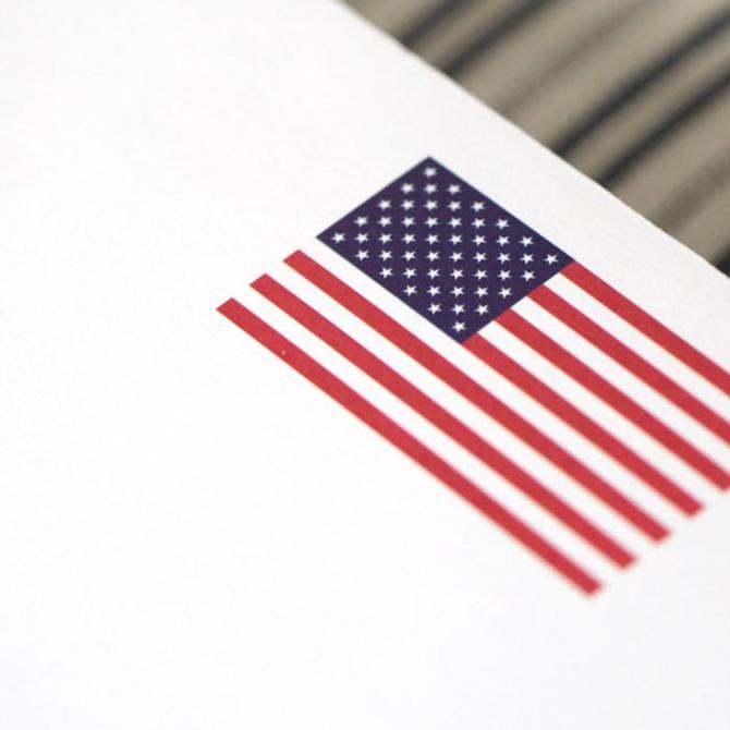 Black Ink US Flag