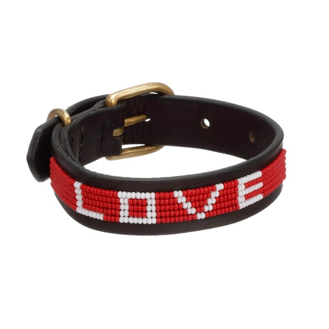 Love Project LOVE Pet Collar - Red: Small