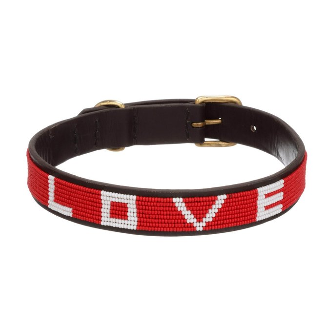 Love Project LOVE Pet Collar - Red Large