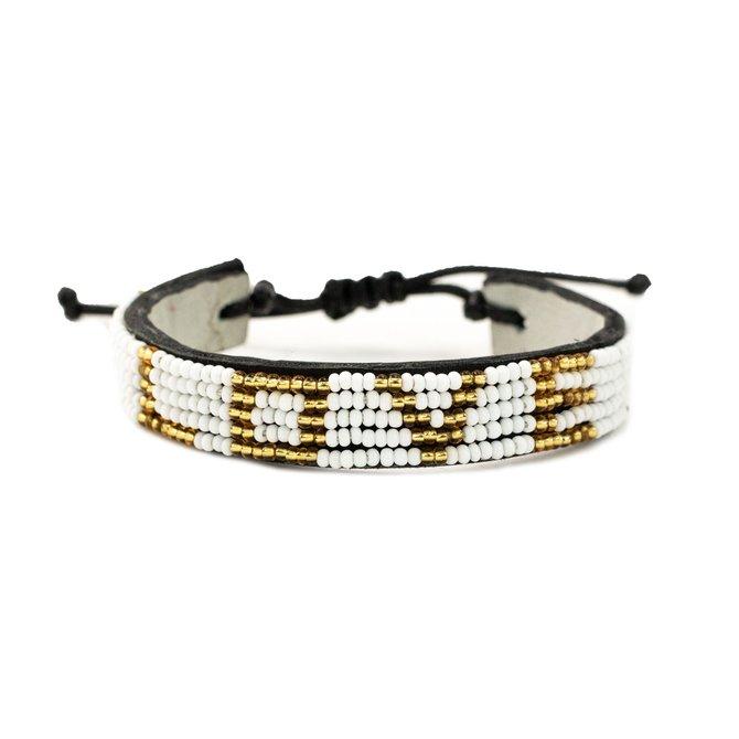 Love Project LOVE Bracelet - White/ Gold