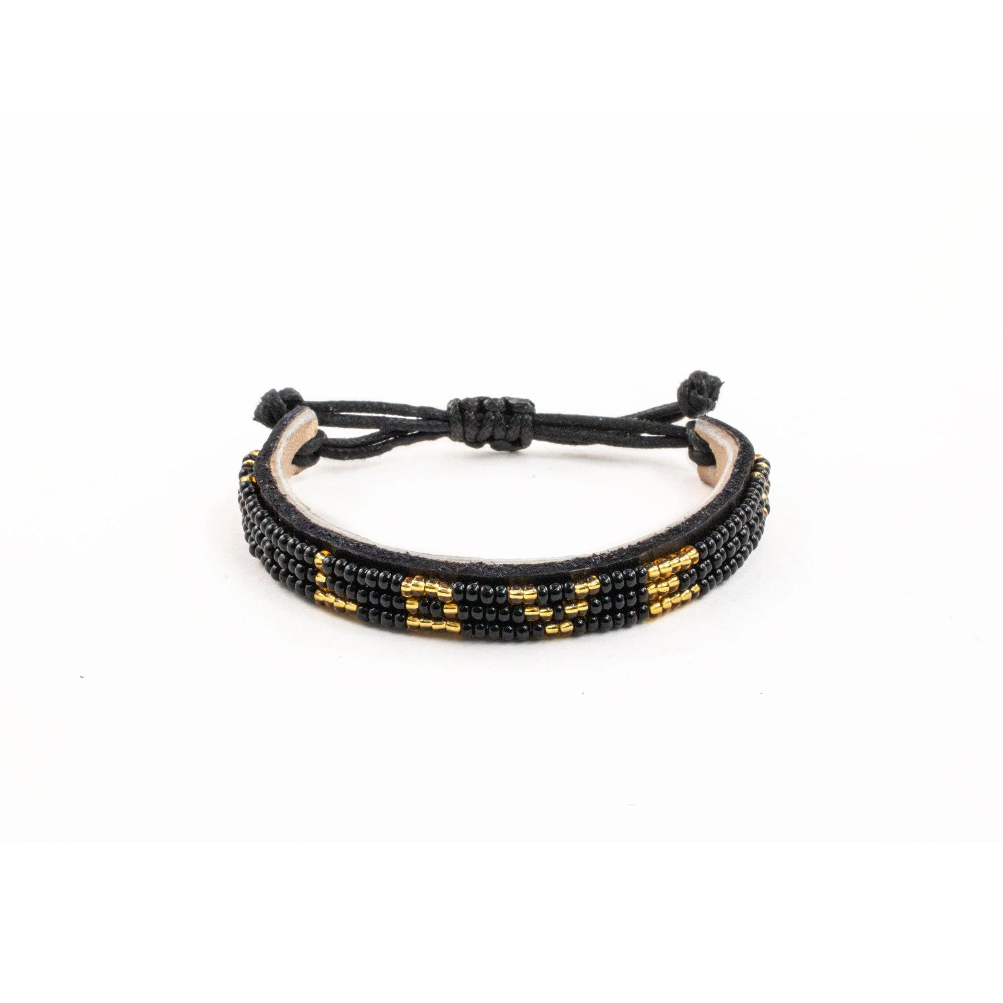 Love Project Skinny LOVE Bracelet - Black/Gold: Small