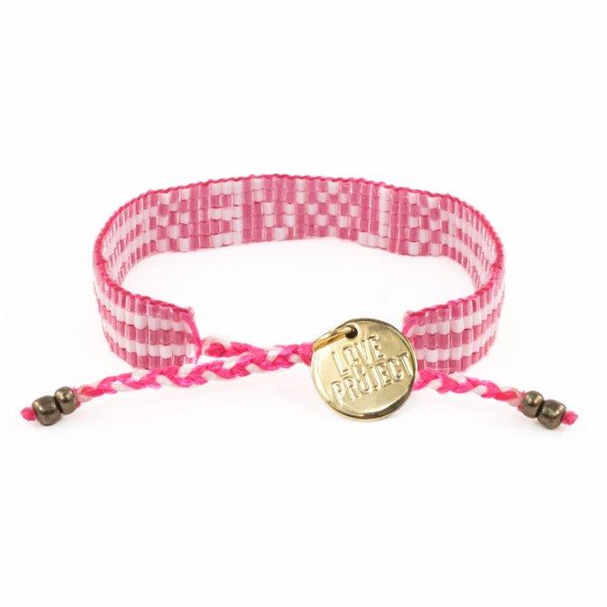Love Project Pretty in Pink Bali Seed LOVE Bracelet