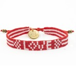 Love Project Seed Bead LOVE Bracelet - Red