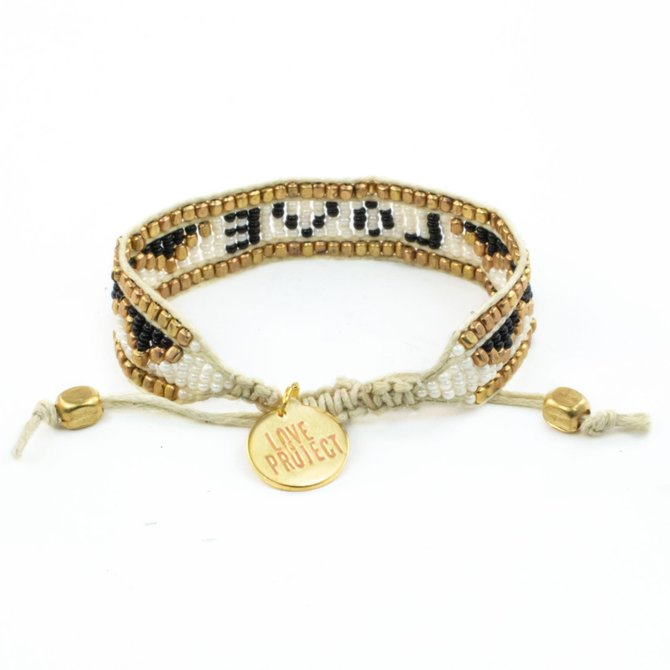 Love Project Taj LOVE Bracelet - White & Black