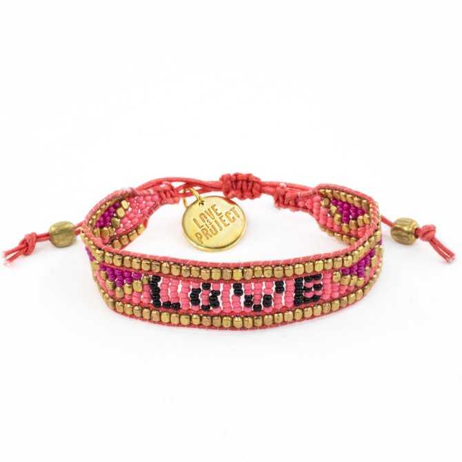 Love Project Taj LOVE Bracelet - Pink & Black