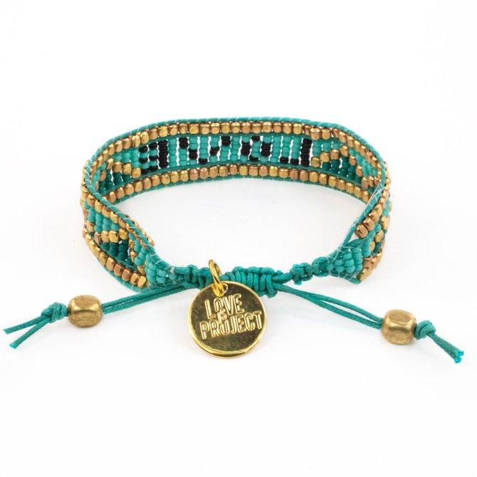 Love Project Taj LOVE Bracelet - Turquoise & Black