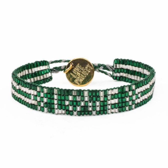 Love Project Seed Bead LOVE Bracelet - Green
