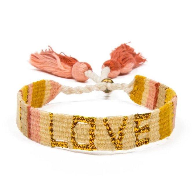Love Project Atitlan Love Bracelet - Yellow & Gold