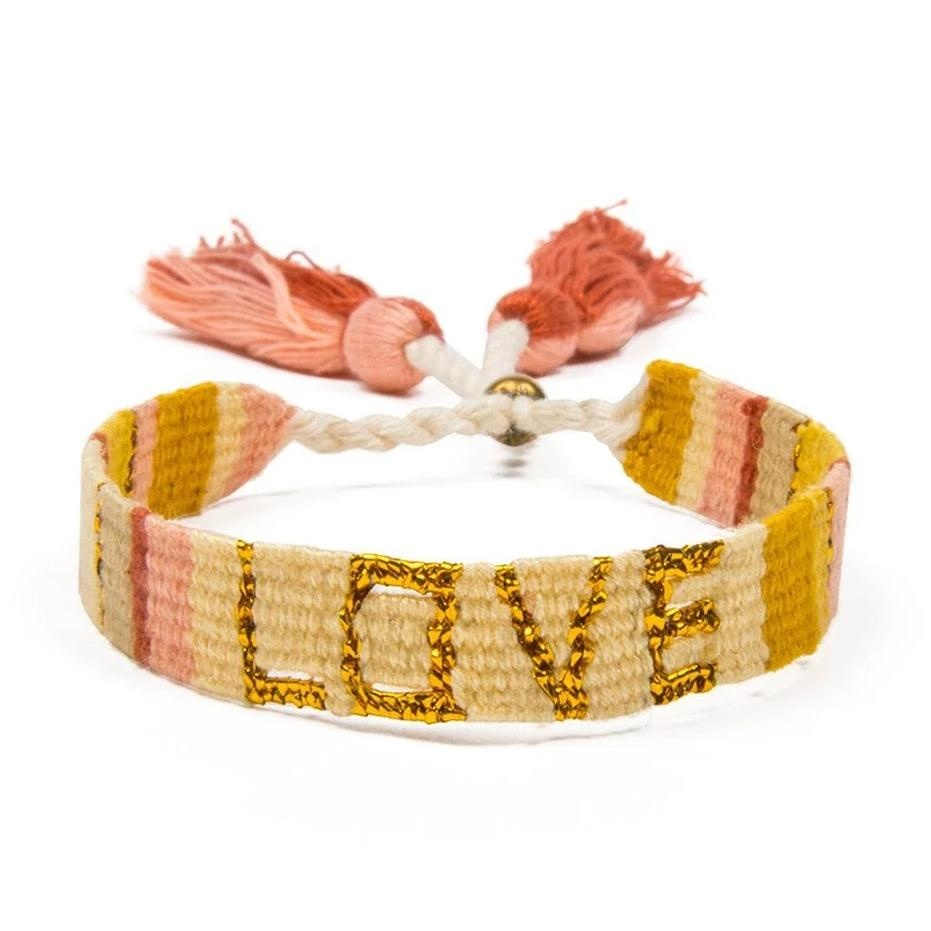 Love Project Atitlan Love Bracelet - Yellow & Gold