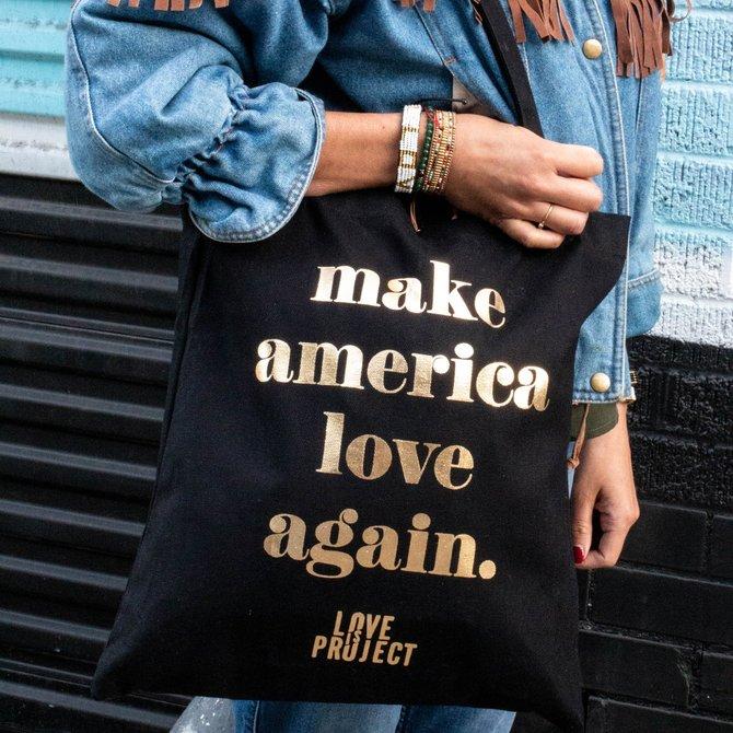 Love Project Make America Love Again Tote - Black