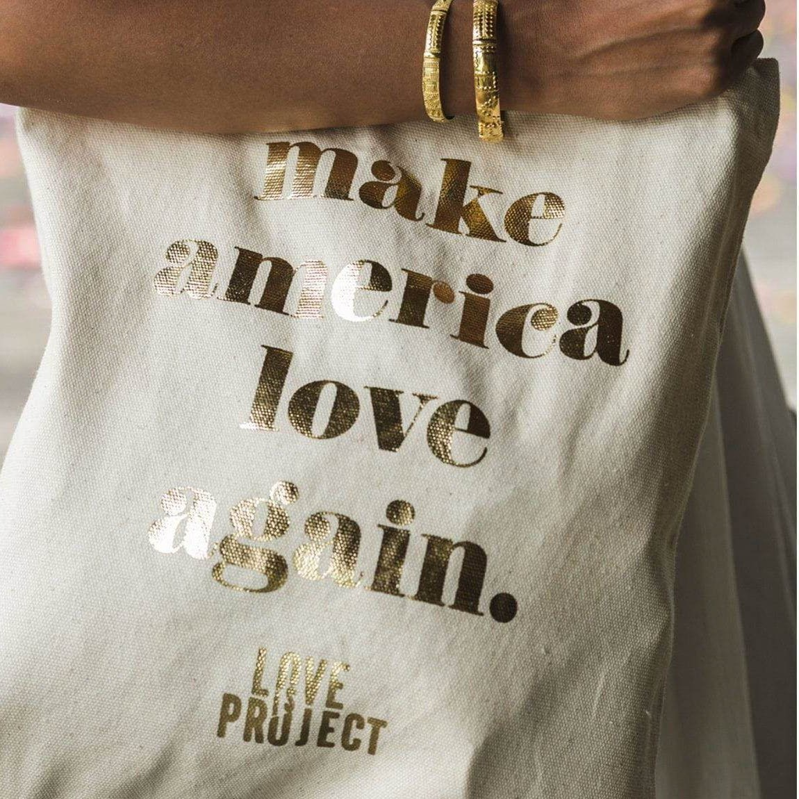 Love Project Make America Love Again Tote - White