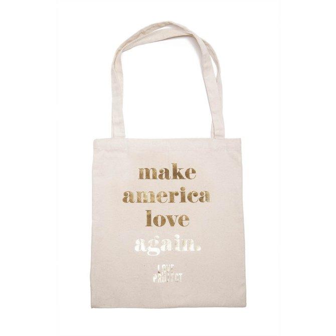 Love Project Make America Love Again Tote - White