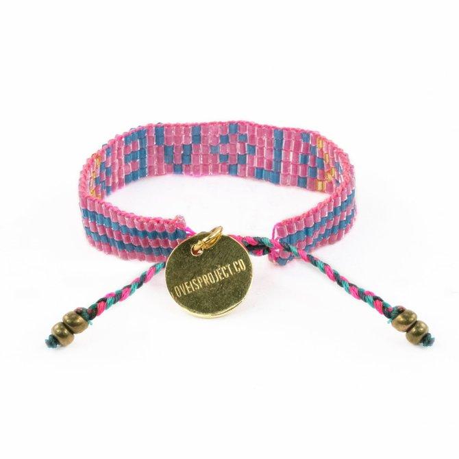 Love Project Kids' Seed Bead LOVE Bracelet - Pink
