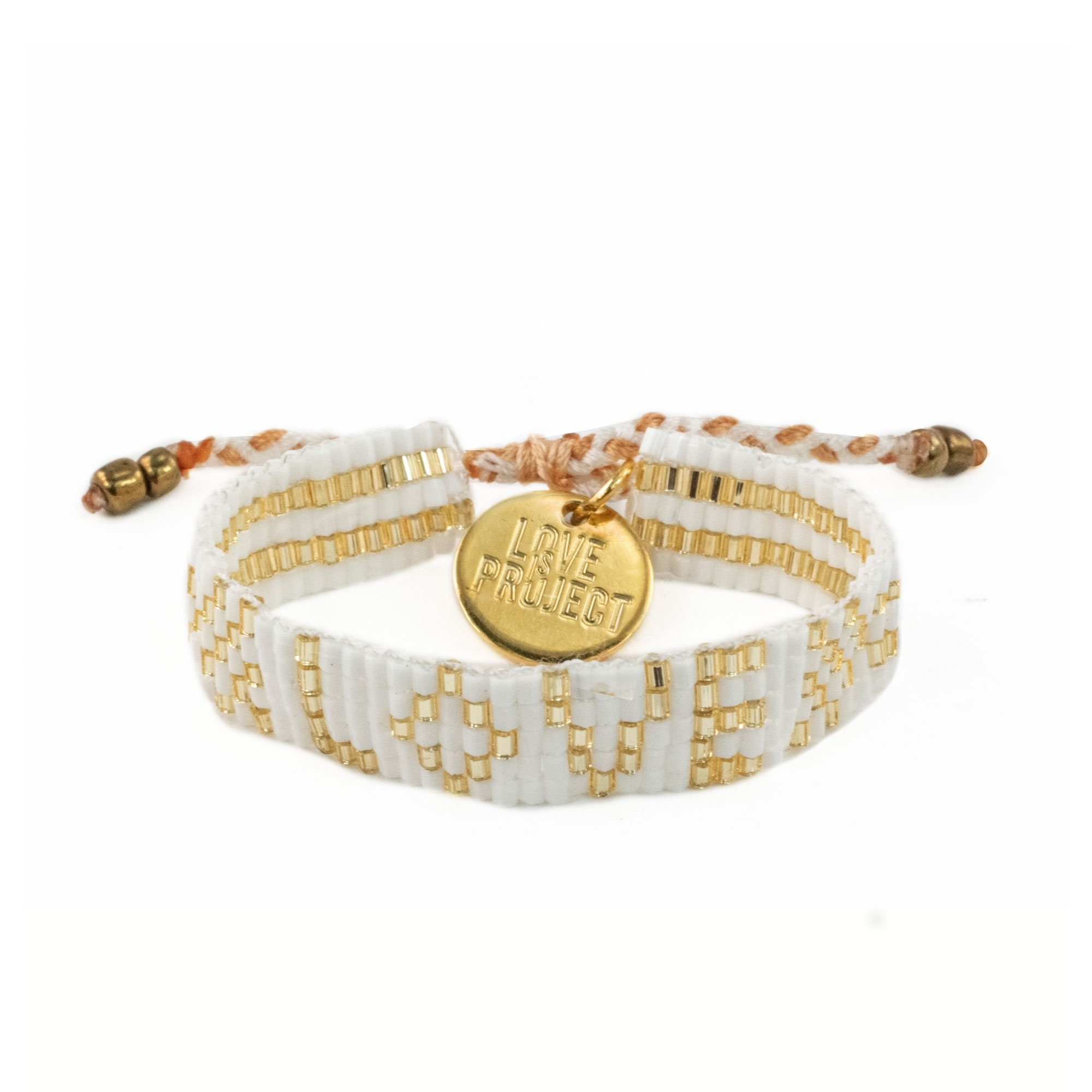 Love Project Kids' Seed Bead LOVE Bracelet - White