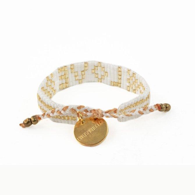 Love Project Kids' Seed Bead LOVE Bracelet - White