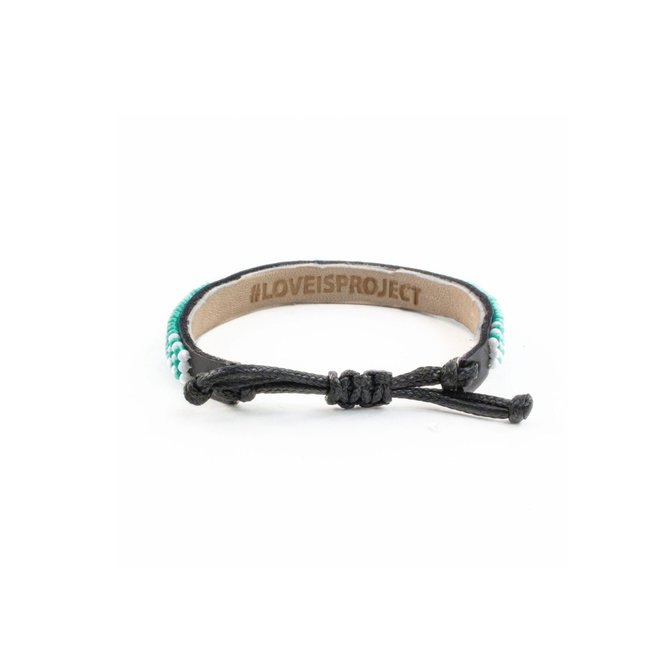 Love Project Skinny LOVE Bracelet - Turquoise: Small