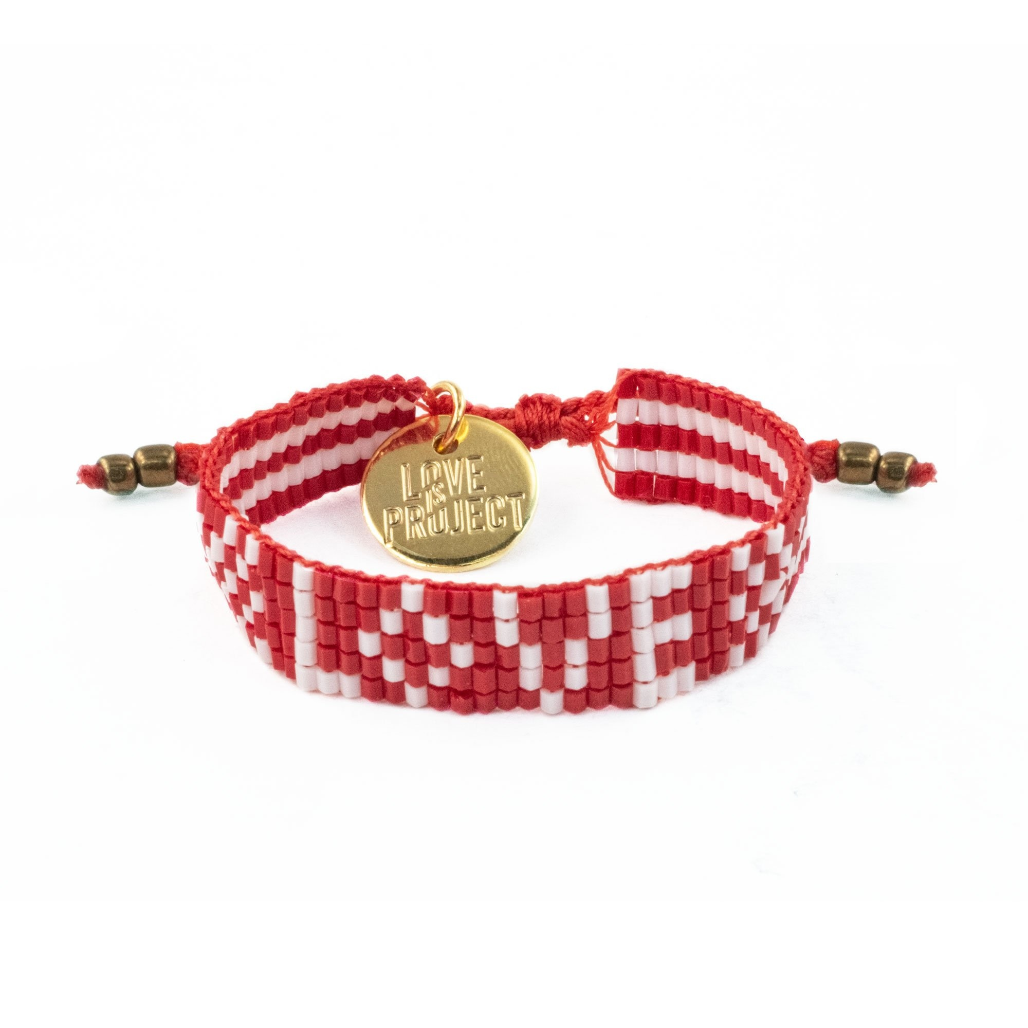 Love Project Kids' Seed Bead LOVE Bracelet - Red