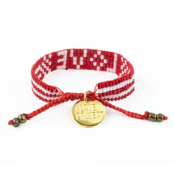 Love Project Kids' Seed Bead LOVE Bracelet - Red
