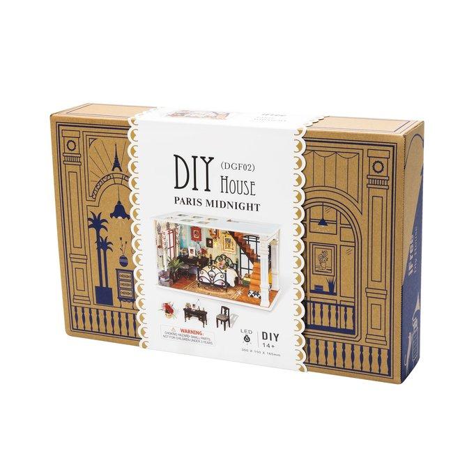 Hands Craft Paris Bedroom DIY Miniature Dollhouse Kit