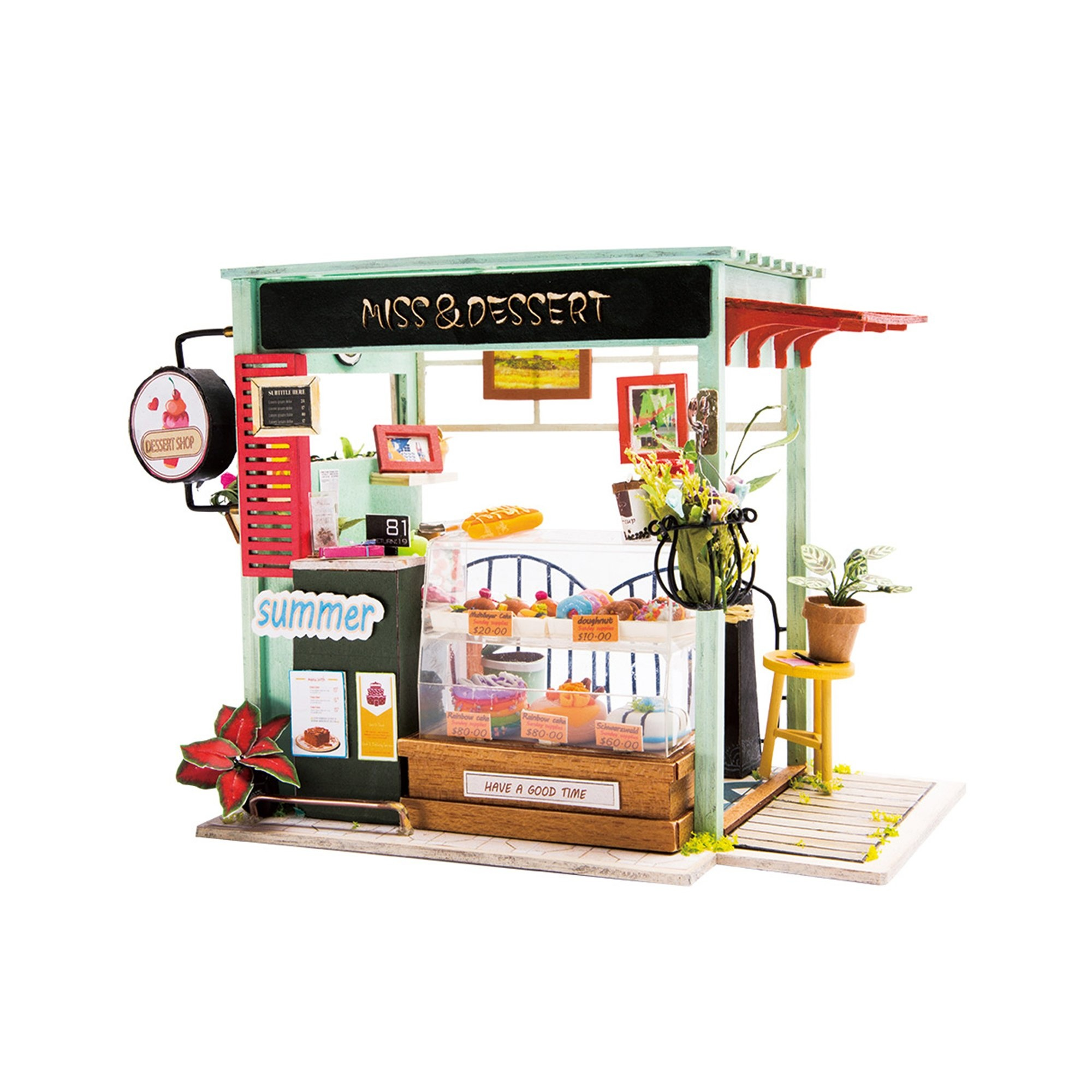 Hands Craft Ice Cream Station DIY Miniature Dollhouse Kit