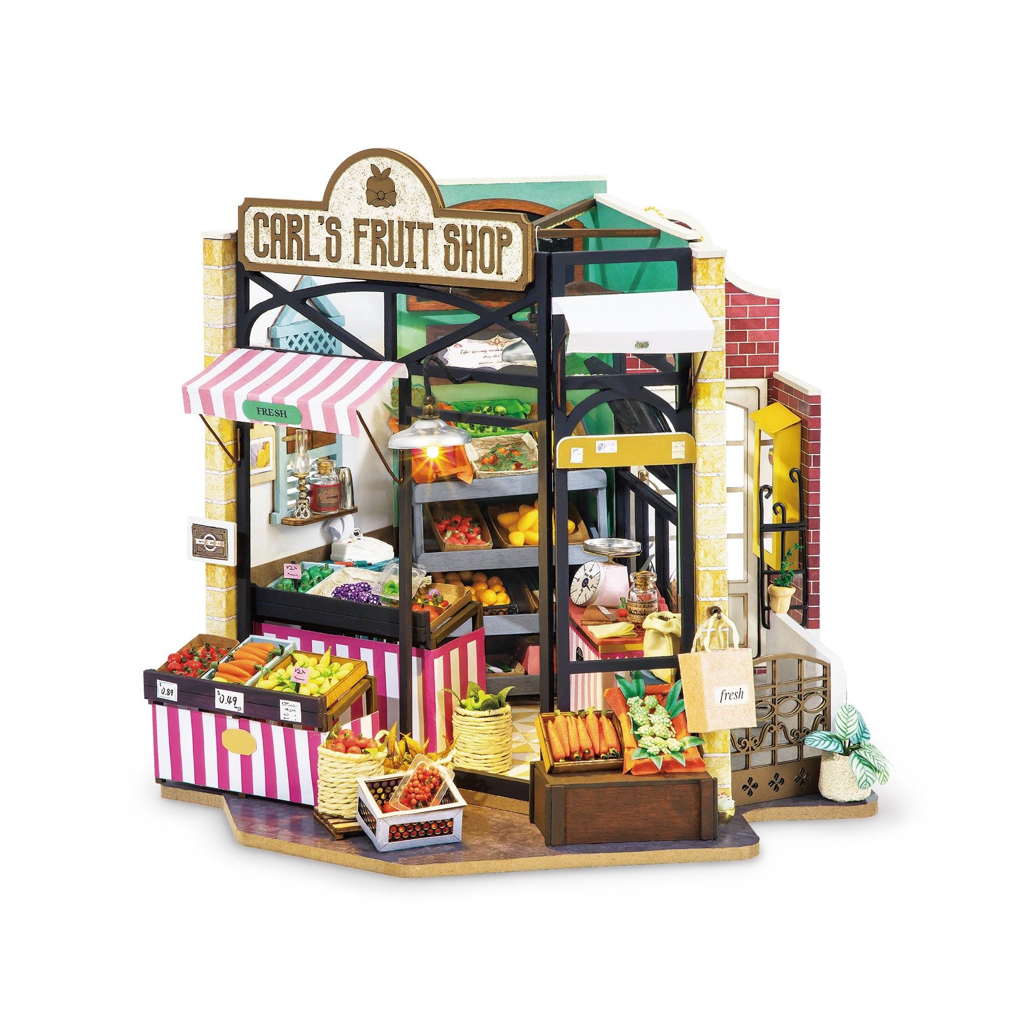 Hands Craft Fruit Shop DIY Miniature Dollhouse Kit