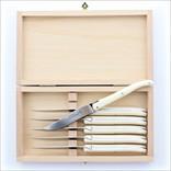 Laguiole 6 Knives Ivory Acrylic Laguiole