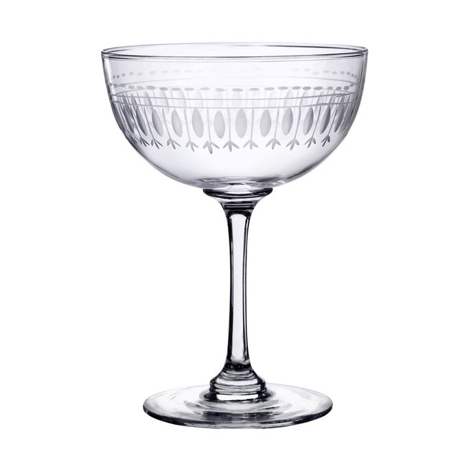 The Vintage List Oval Champagne Saucers