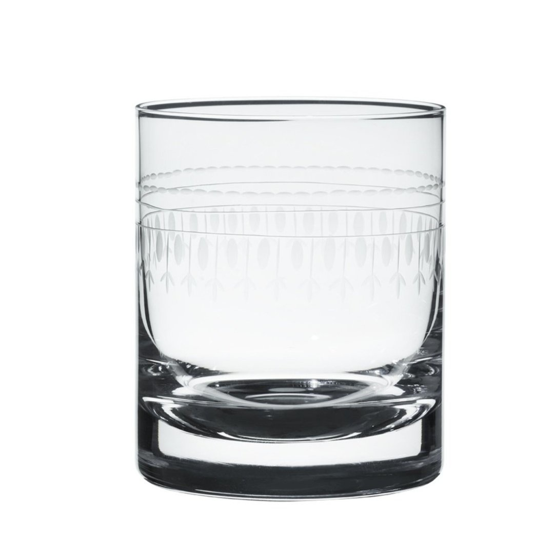 The Vintage List Whiskey Glass with Oval Design