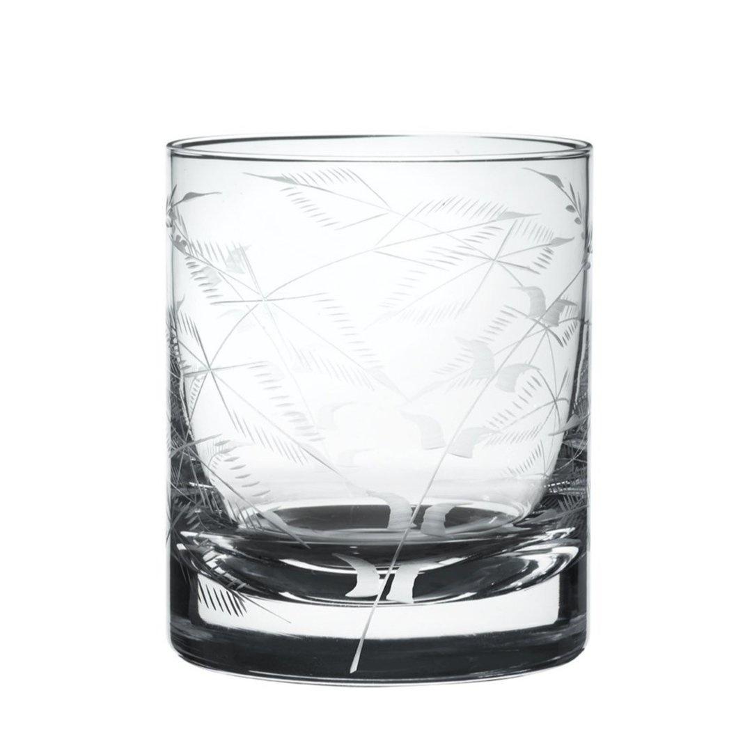 The Vintage List Whiskey Glass Fern Design