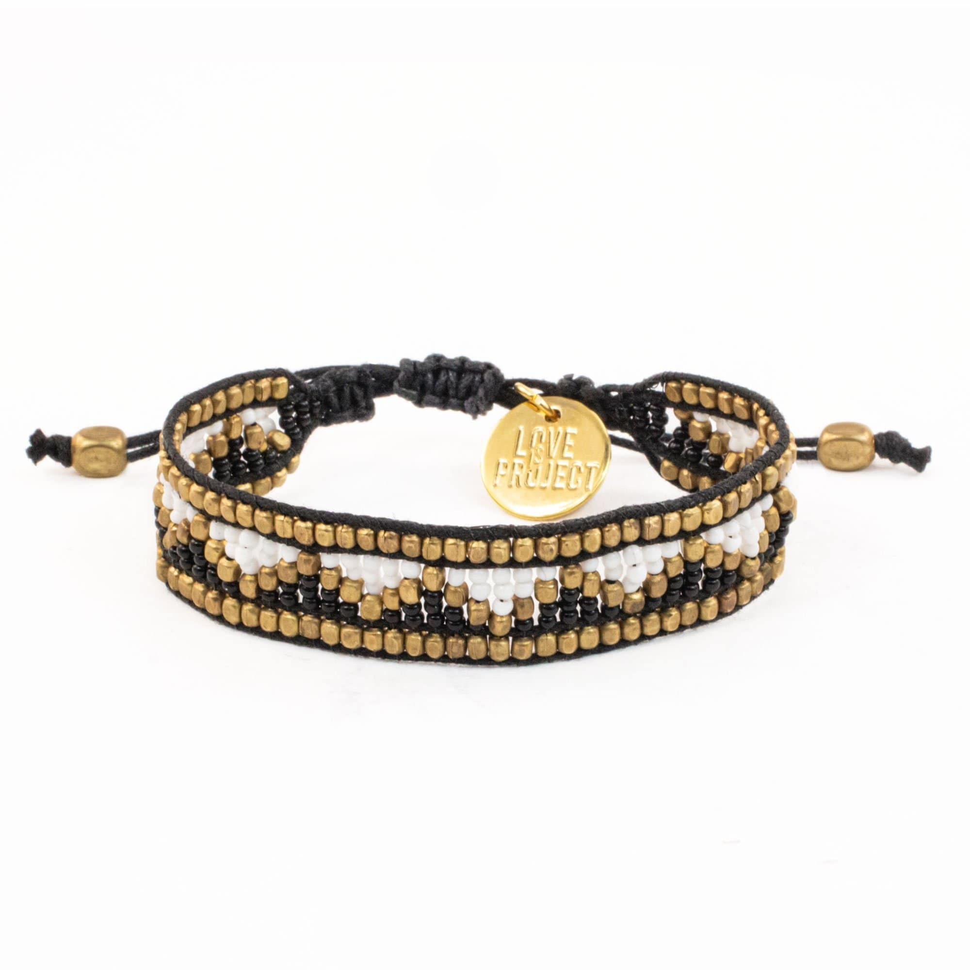 Love Project Taj Beaded Bracelet - Black and White