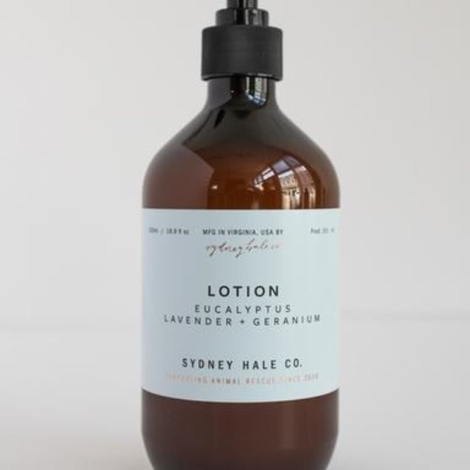 Sydney Hale Co Lotion- Eucalyptus, Lavender + Geranium