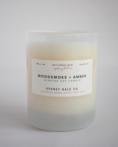 Sydney Hale Co Woodsmoke + Amber Candle