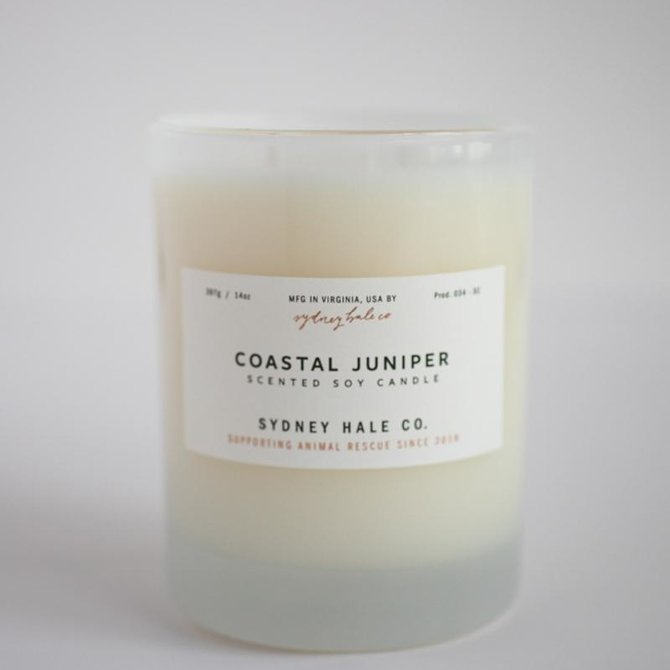 Sydney Hale Co Coastal Juniper - Soy Candle