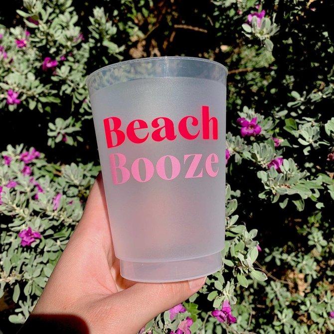 Sip Sip Hooray Beach Booze Reusable Cups - Set of 10 Cups
