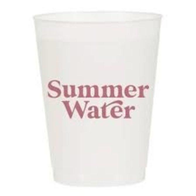 Sip Sip Hooray Summer Water Reusable Cups - Set of 10 Cups