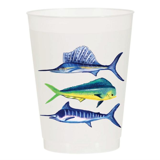Sip Sip Hooray Sport Fish - Reusable Cups - Set of 10