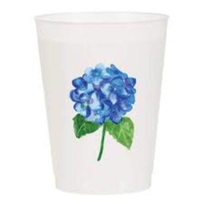 Sip Sip Hooray Hydrangea Watercolor Reusable Cups - Set of 10