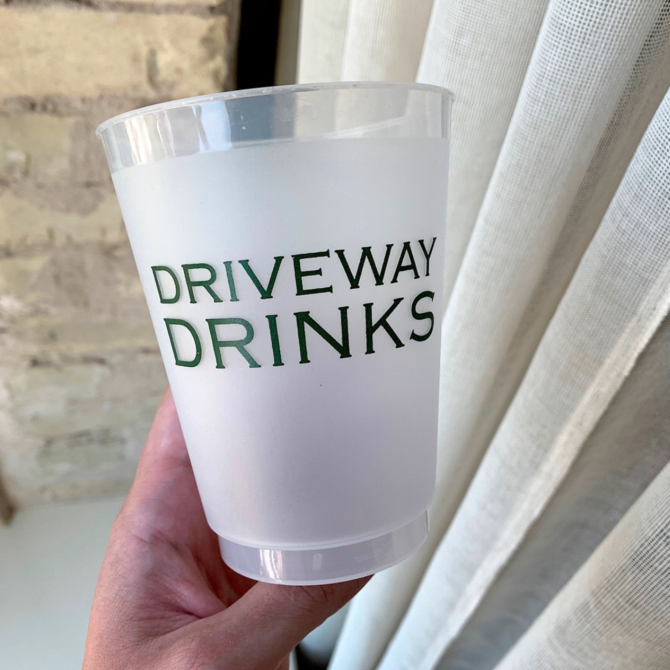 Sip Sip Hooray Driveway Drinks Reusable Cups - Set of 10 Cups