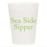 Sip Sip Hooray Sea Side Sipper Reusable Cups - Set of 10 Cups