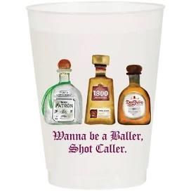 Sip Sip Hooray Wanna be a Baller Shot Caller - Reusable Cups - Set of 10