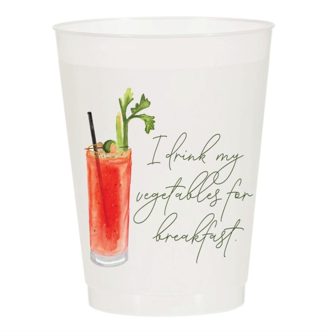 Sip Sip Hooray Bloody Mary Breakfast - Reusable Cups - Set of 10