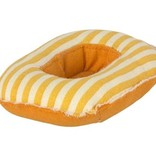 Maileg Rubber Boat Small Mouse - yellow stripe