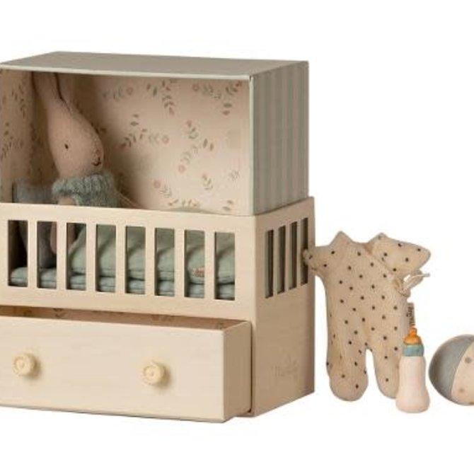 Maileg Baby Room w/ Micro Rabbit