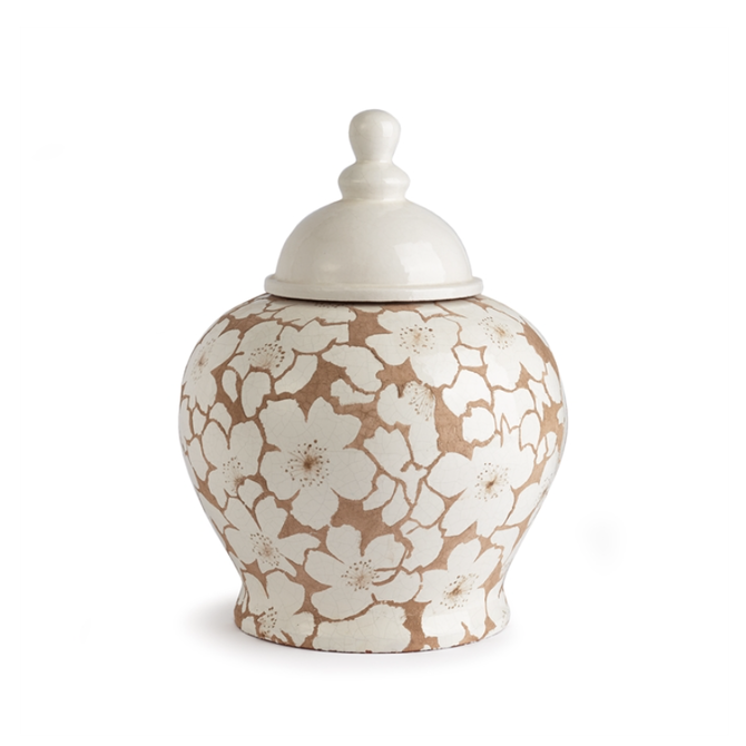 """Napa Home and Garden Cherry Blossom Lidded Urn 14"""""""