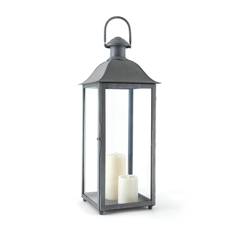 """Napa Home and Garden Coach House Outdoor Lantern 30"""" Gray"""